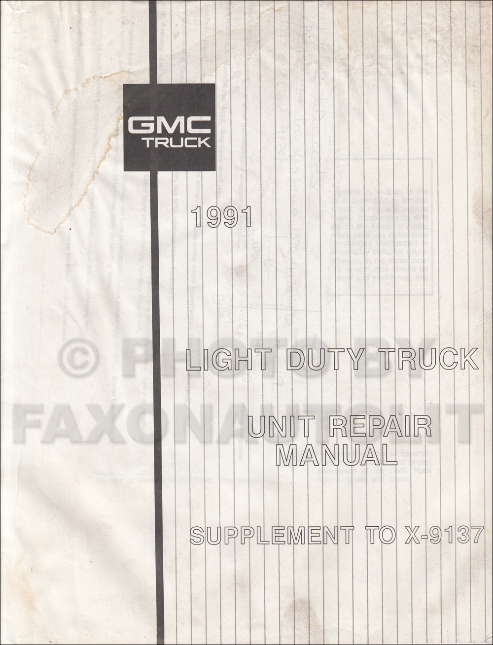 1991 GMC Borg Warner Transfer Case Overhaul Manual Original 1370 4470 4472