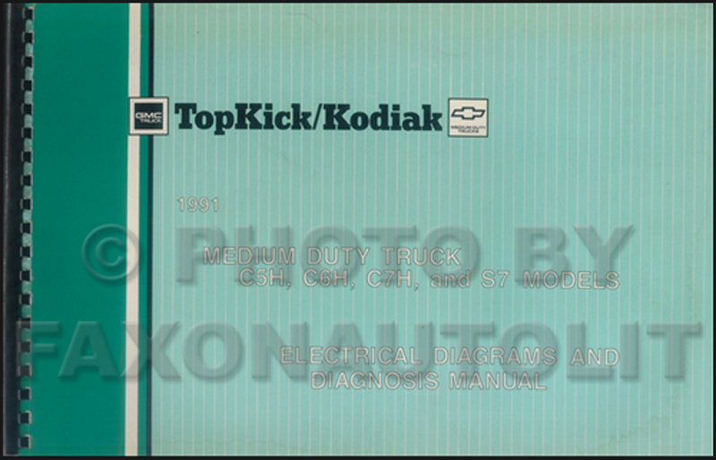 1991 topkick kodiak s7 wiring diagram manual factory reprint 1991 gmc chevy topkick kodiak s7 wiring diagram manual original 119 00