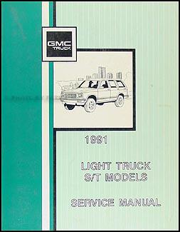 1991 gmc s15 sonoma jimmy wiring diagram manual original