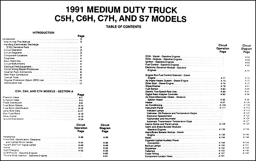 1991 gmc chevy topkick kodiak s7 wiring diagram manual original rh faxonautoliterature com 2007 Chevy C6500 Wiring-Diagram Chevy Cobalt Wiring-Diagram