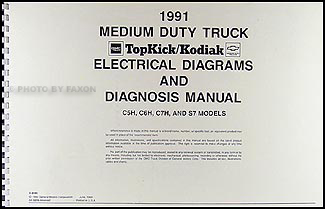 chevrolet c5500 kodiak service manuals shop owner maintenance 1991 topkick kodiak s7 wiring diagram manual factory reprint