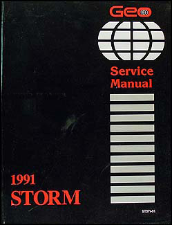 1991GeoStormORM 1991 geo storm repair shop manual original 1990 geo storm wiring diagram at edmiracle.co