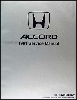 1991 honda accord repair shop manual original rh faxonautoliterature com 1991 accord owners manual 1989 Accord