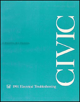 1991 Honda Civic Electrical Troubleshooting Manual Original