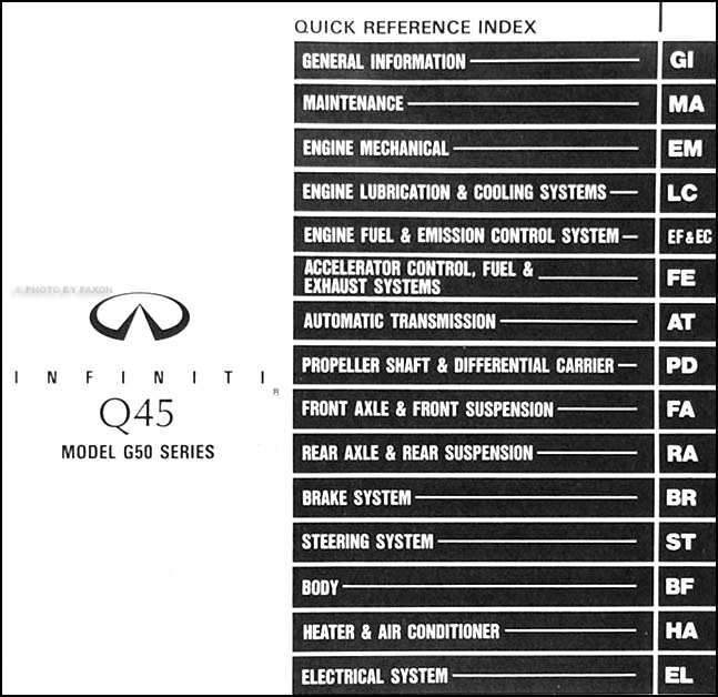 1991 Infiniti Q45 Repair Shop Manual Original