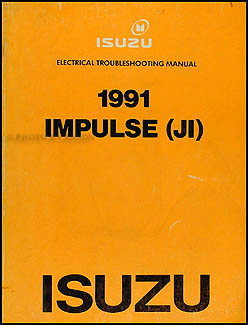 1991 isuzu impulse original electrical troubleshooting ... wiring diagram 1997 isuzu rodeo