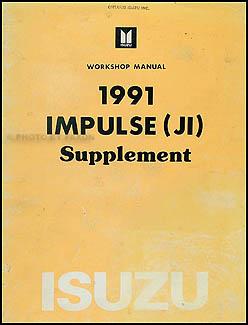 1991 isuzu impulse xs hatchback repair shop manual ... wiring diagram 1991 isuzu impulse