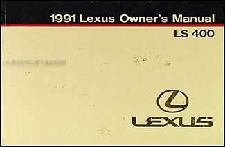 1991 Lexus LS400 LS 400 Owners Manual Lexus