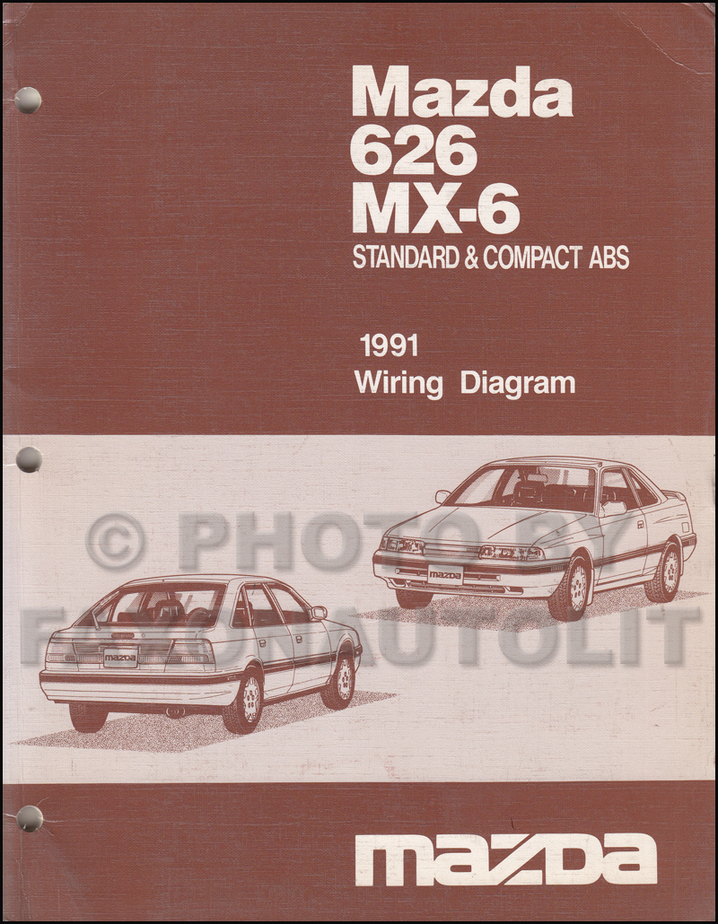 early 1991 mazda 626 mx 6 wiring diagram manual original. Black Bedroom Furniture Sets. Home Design Ideas
