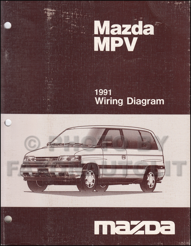1991MazdaMPVOWD 1991 mazda mpv repair shop manual original 1995 mazda mpv wiring harness at bakdesigns.co