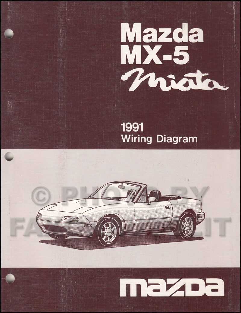 1991 Mazda Mx Miata Repair Shop Manual Original