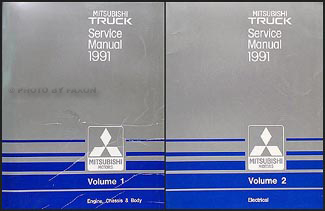 1991 Mitsubishi Truck Owners Manual Mitsubishi