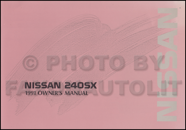 1991 Nissan 240sx Repair Shop Manual Original