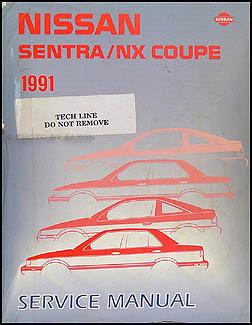 1991 nissan sentra nx coupe wiring diagram manual original 1991 nissan sentra nx coupe repair shop manual original