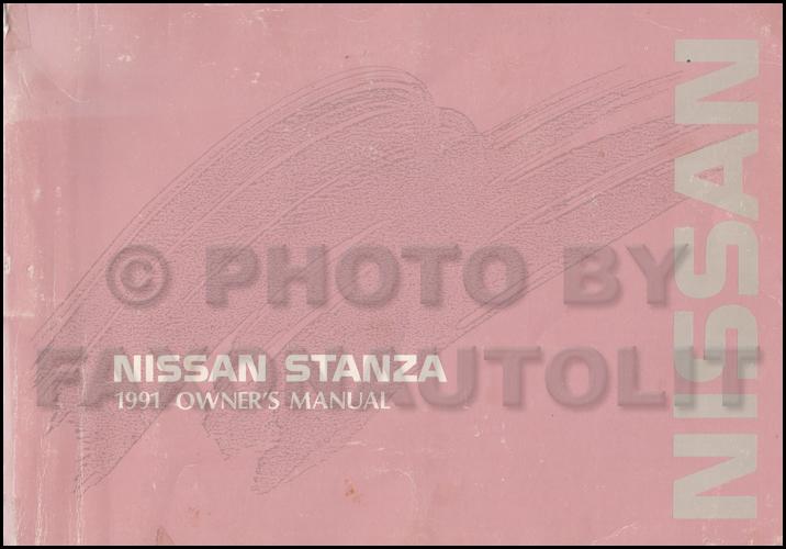 1991 Nissan Stanza Wiring Diagram Manual Original