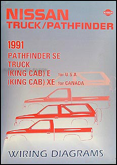 1991 nissan truck and pathfinder wiring diagram manual original rh faxonautoliterature com 2017 Nissan Terrano 1991 nissan pathfinder stereo wiring diagram