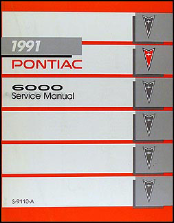 1991 pontiac 6000 repair manual 91 se le shop service ebay