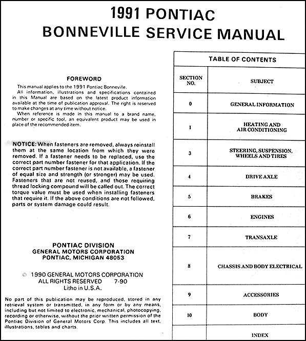 pontiac bonneville wiring diagram repair guides diagrams 95 pontiac bonneville wiring diagram 1991 pontiac bonneville repair shop manual original