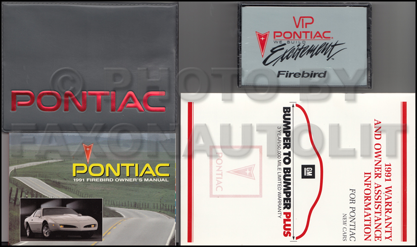1991 pontiac firebird and trans am owners manual package with 1991 pontiac firebird and trans am owners manual package with cassette original publicscrutiny Choice Image