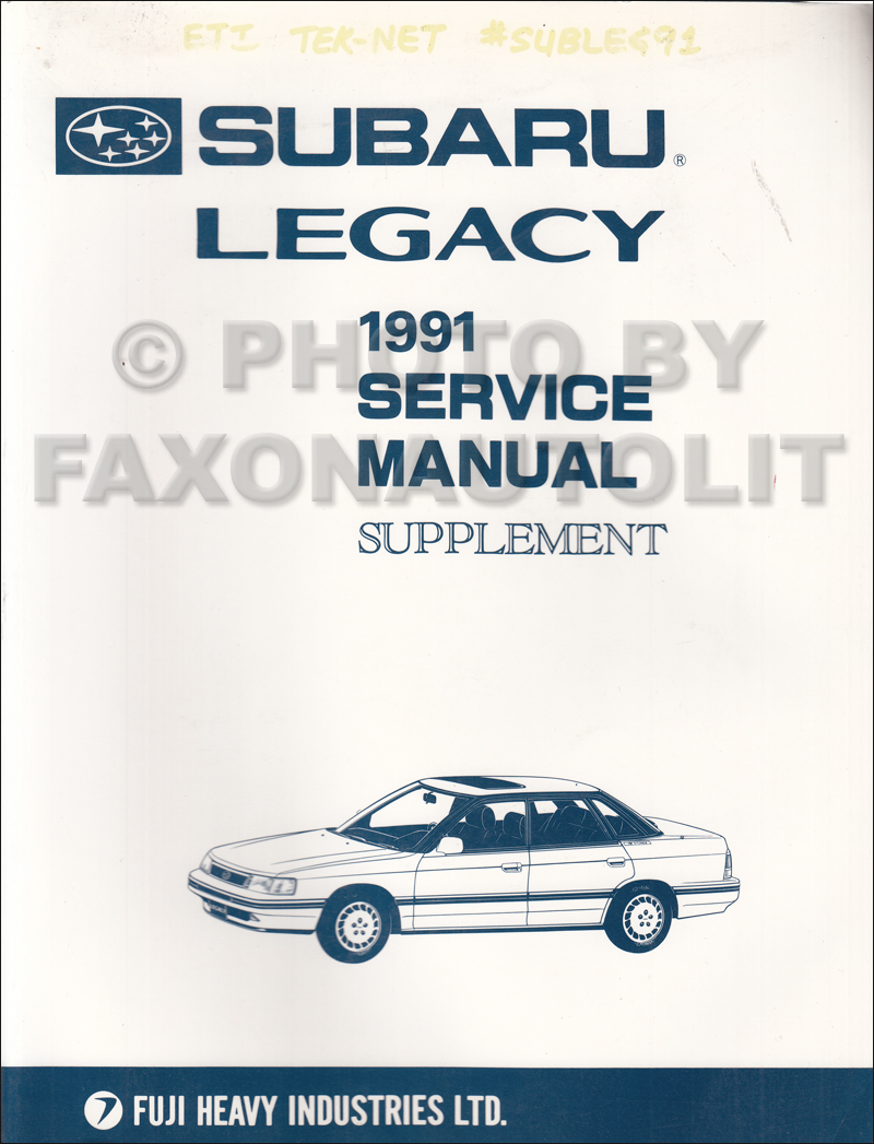 1991 subaru legacy repair shop manual supplement original rh faxonautoliterature com 1995 subaru legacy owner's manual service manual subaru legacy 1995