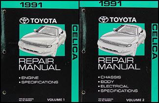 1991 Toyota Celica Repair Manual Original 2 Volume Set