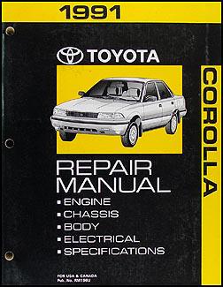 1991 toyota corolla repair shop manual original rh faxonautoliterature com 1992 toyota corolla manual 1992 toyota corolla manual transmission