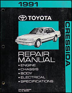 1991 Toyota Cressida Repair Shop Manual Original Toyota