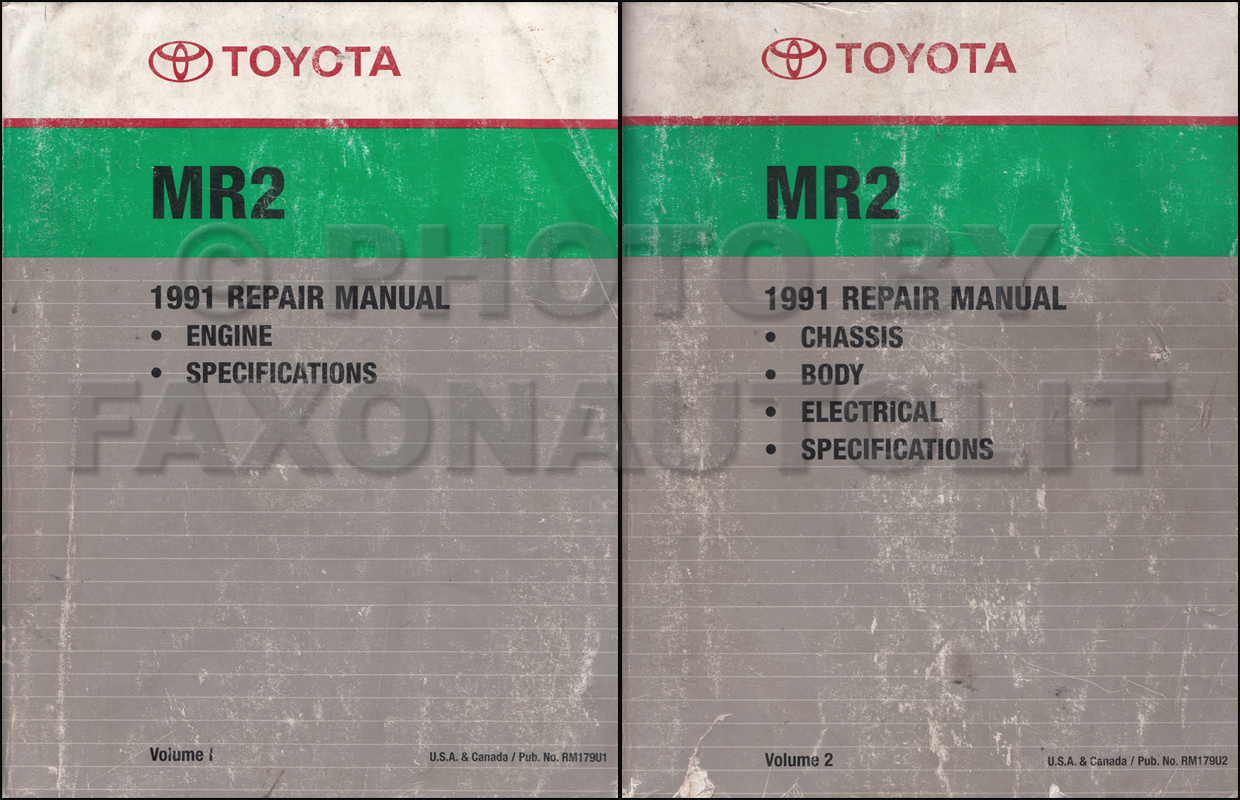 1991 Toyota MR2 Repair Manual Original 2 Volume Set