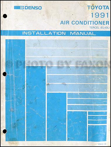1991 Toyota Tercel Repair Shop Manual Original