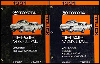 1991 toyota truck repair shop manual set original 2 vol rh faxonautoliterature com 1992 toyota pickup manual transmission parts 1992 toyota pickup manual online