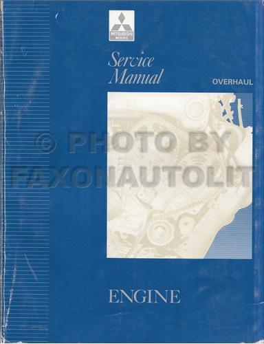 1992-1993 Mitsubishi Engine Overhaul Manual Original