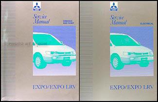 1992-1993 Mitsubishi Expo/Expo LRV Service Shop Manual Original 2 Volume Set