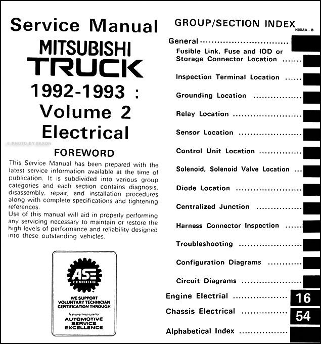 1992 1993 mitsubishi mighty max truck repair shop manual set original