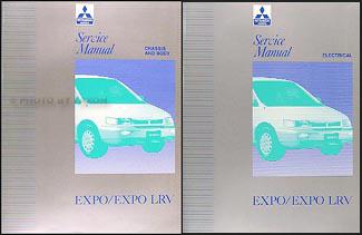 1992-1994 Mitsubishi Expo/Expo LRV Service Shop Manual Original 2 Volume Set