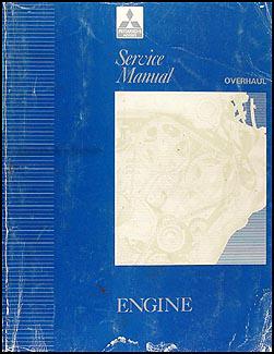 1992-1995 Mitsubishi Engine Overhaul Manual Original