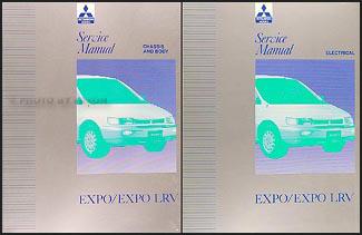 1992-1995 Mitsubishi Expo/Expo LRV Service Shop Manual Original 2 Volume Set