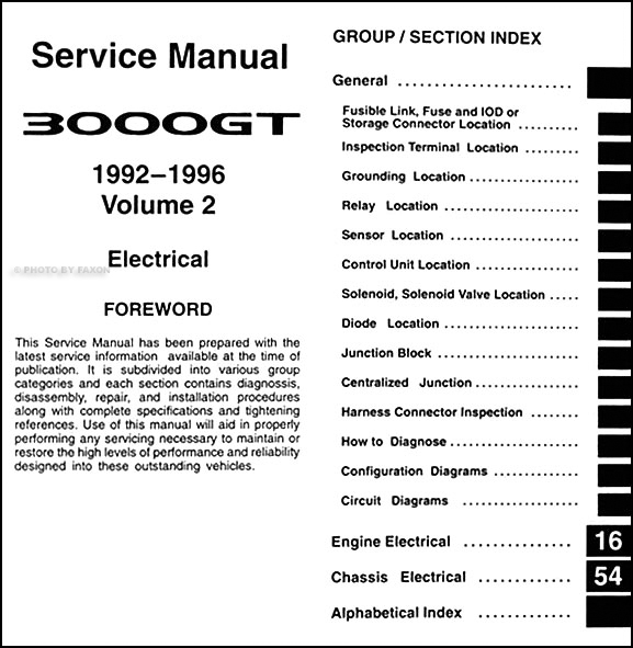 1992 96Mitsubishi3000GTRRM TOC2 1992 1996 mitsubishi 3000gt repair shop manual set factory reprint mitsubishi 3000gt ignition wiring diagram at reclaimingppi.co