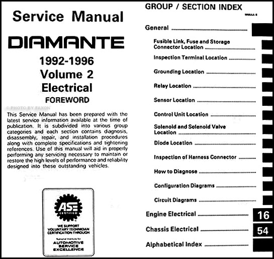1992 1996 mitsubishi diamante repair shop manual set original rh faxonautoliterature com 1997 Mitsubishi Diamante Parts 1998 Mitsubishi Diamante