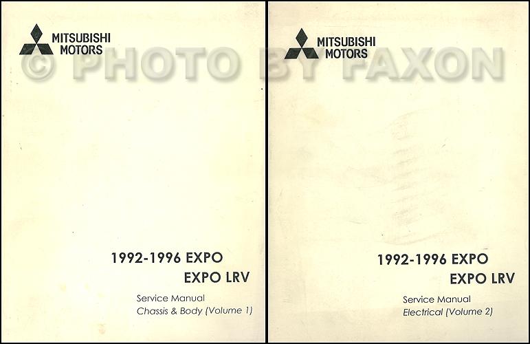 1992-1996  Mitsubishi Expo/Expo LRV Service Shop Manual Original 2 Volume Set