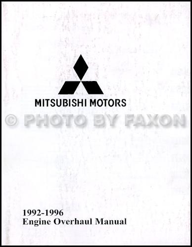 1992-1996 Mitsubishi Engine Overhaul Manual Factory Reprint