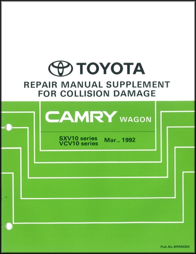 1992 1996 toyota camry wagon body collision repair shop manual rh faxonautoliterature com 1992 toyota camry repair manual pdf 1992 toyota camry repair manual free download