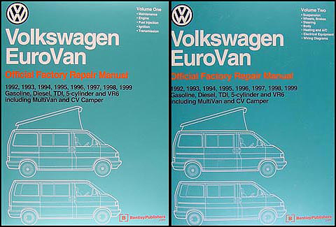 1990 1995 vw transporter eurovan bus repair shop manual related items