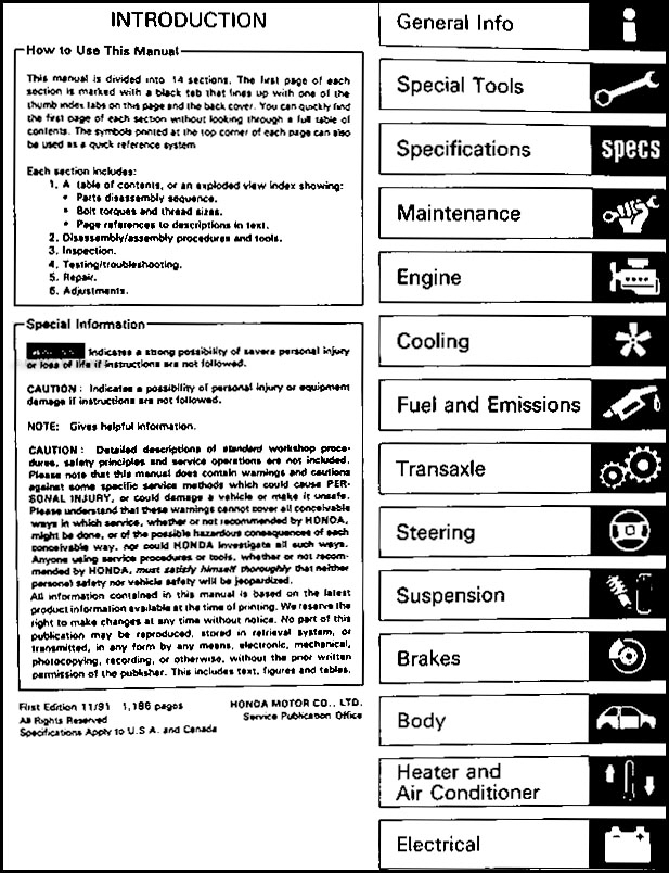 1992 acura integra repair shop manual original rh faxonautoliterature com 96 integra shop manual 96 integra shop manual