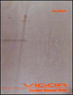 1992 acura vigor repair shop manual original rh faxonautoliterature com Acura TLX Acura Legend