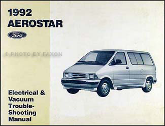 1992AerostarEVTM 1992 ford aerostar electrical and vacuum troubleshooting manual wiring diagram for a ford aerostar at mifinder.co