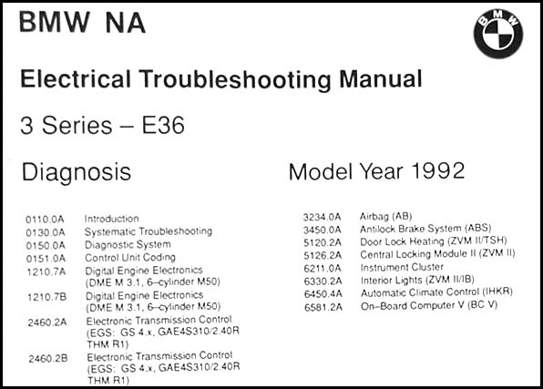 19911992 BMW 318is 325i Electrical Troubleshooting Manual