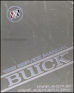 1992 buick park avenue and ultra shop repair manual 92. Black Bedroom Furniture Sets. Home Design Ideas