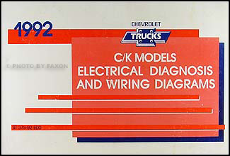 1992 chevy c k pickup suburban blazer wiring diagram manual original rh faxonautoliterature com