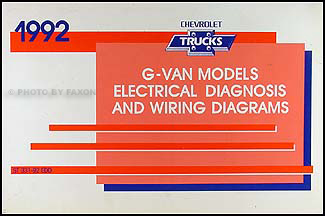 1992 chevy g van wiring diagram manual original. Black Bedroom Furniture Sets. Home Design Ideas