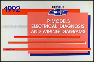 1992ChevPModelsWD 1992 chevrolet p motorhome and forward control wiring diagram manual Chevy Wiring Diagrams Color at gsmx.co